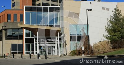 City Hall at Oshawa, Ontario, Canada 4K. The City Hall at Oshawa, Ontario, Canada 4K stock video footage