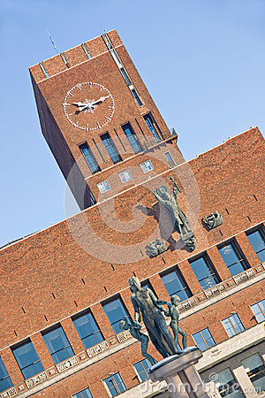 City hall in Oslo Editorial Photography