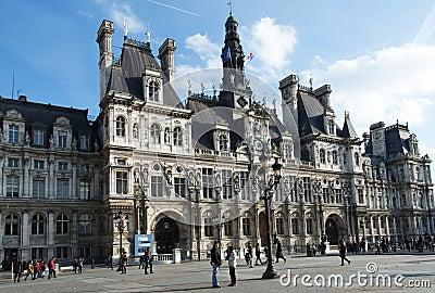 The city hall of Paris Editorial Photo