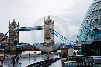City hall and tower bridge Editorial Stock Photo