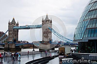 City hall and tower bridge Editorial Stock Photo