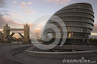 City Hall and Tower Bridge London