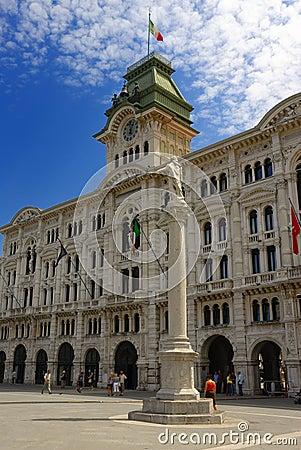 Free City Hall, Trieste Royalty Free Stock Photo - 2849055