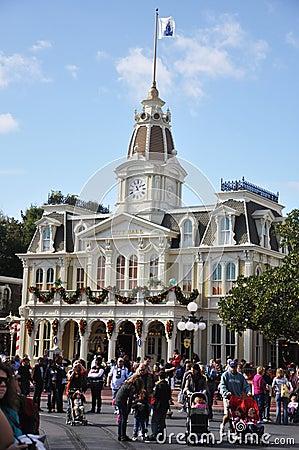 City Hall in Walt Disney World Editorial Stock Image
