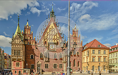 City hall in Wroclaw 2013 - big picture Editorial Stock Image