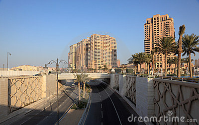 City highway at The Pearl, Doha