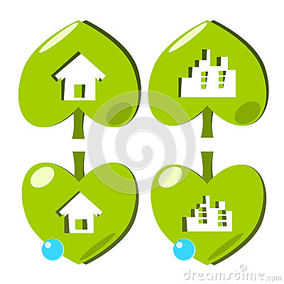City and home environment icon