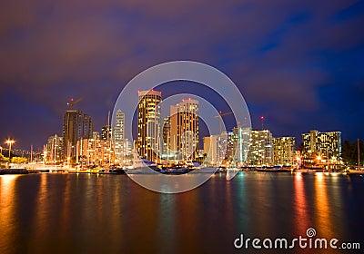 City of Honolulu at Night
