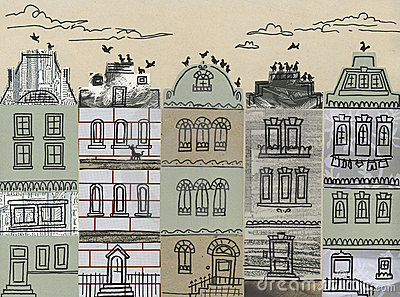 City houses - artwork