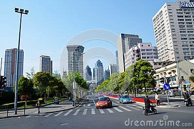 City intersection Editorial Stock Photo