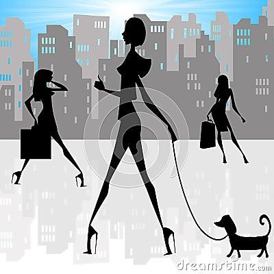 City Ladies silhouettes