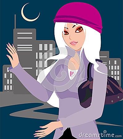 City lady
