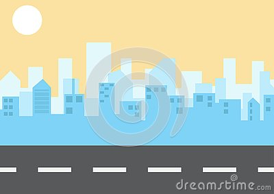 City landscape in flat style. illustration. vector. Vector Illustration