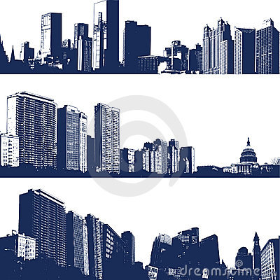 City landscape illustrations