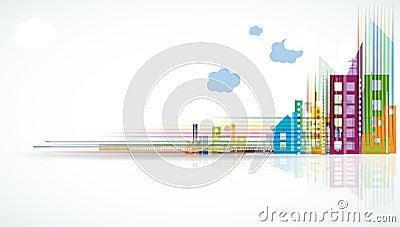City Landscape real estate background banner