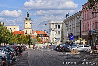 City life in Bialystok, Poland.