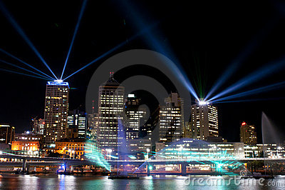 City of Lights, Brisbane, Australia Editorial Stock Photo