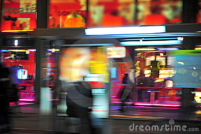 City Lights Motion Blur