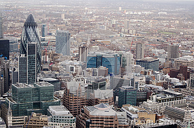 City of London aerial view