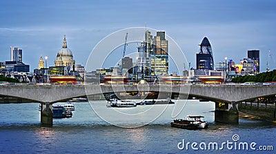 City of London at dusk