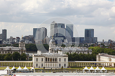 City of London, England from Greenwich