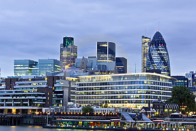 City of London financial district