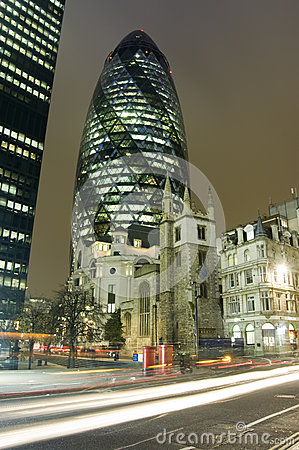 City of London by night