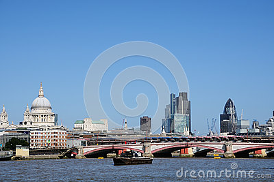 City of London and river