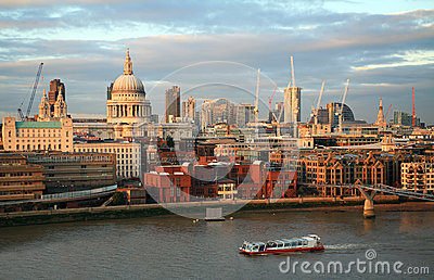 City of London skyline from Bankside