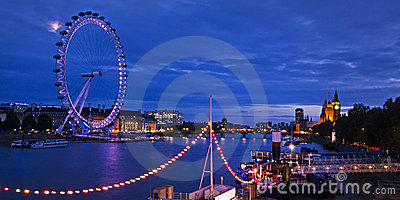 City of London at twilight Editorial Photo