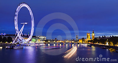City of London at twilight Editorial Stock Photo