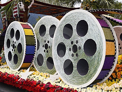 City of Los Angeles 2011 Rose Bowl Parade Float Editorial Image
