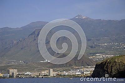 City Los Cristianos in Tenerife island.