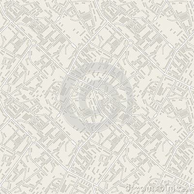Free City Map Abstract Seamless Pattern Vector Royalty Free Stock Photography - 51223087
