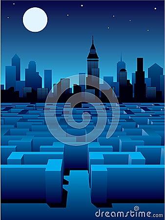 Free City Maze Royalty Free Stock Photo - 2614905