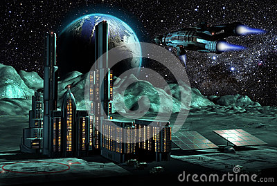 City on  Moon