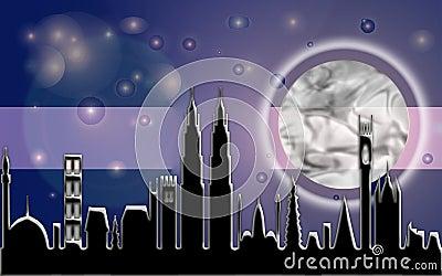 City Moon Beam