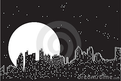 City moon night.