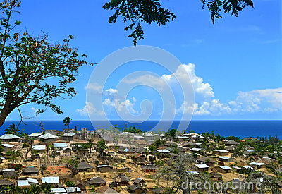 A city in Mozambique, Africa. Indian ocean coast.