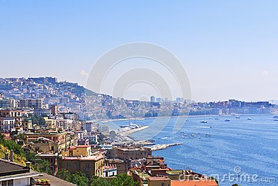 The city of Naples on the Ionian Sea