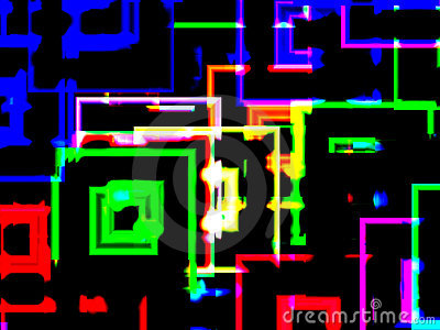 City neon reflections