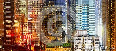 City at night banner