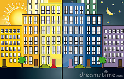 City night and day