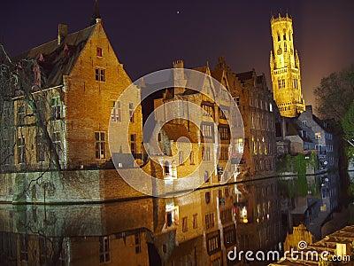 City Night Light Brugge Bruges