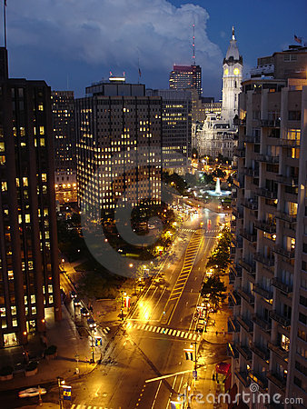 Free City Night, Philadelphia Royalty Free Stock Photo - 807415