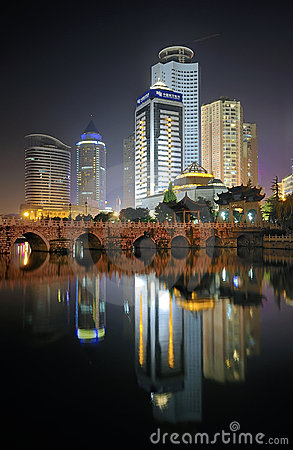 City night scene Editorial Photo