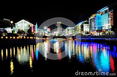 City night scene Editorial Photography