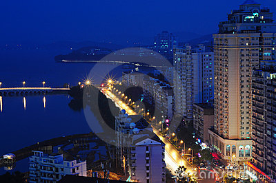 City night scene of china Editorial Stock Photo