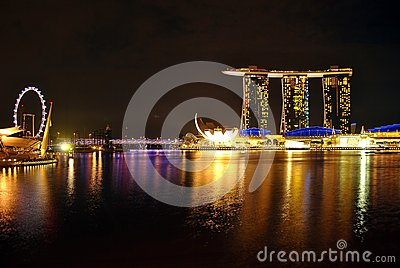 City of night at Singapore