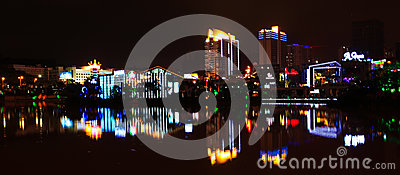City night view Editorial Photography